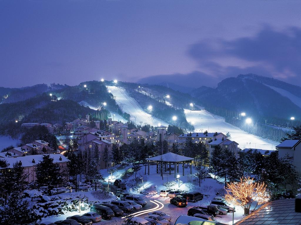 Yongpyong paisajes nieve en asia